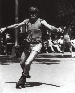 Lezly Ziering in Central Park. 1980s