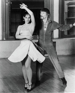 Lezly Ziering and partner at Lezly Dance & Skate School. 1980s