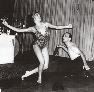 Lezly Ziering and Simone Benthien in their famous Afro-Cuban Number. 1960s